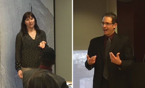 CTA members Corinne McKay and David Lauman spoke to members of the Rocky Mountain Paralegal Association about the importance of using professional translators and interpreters.