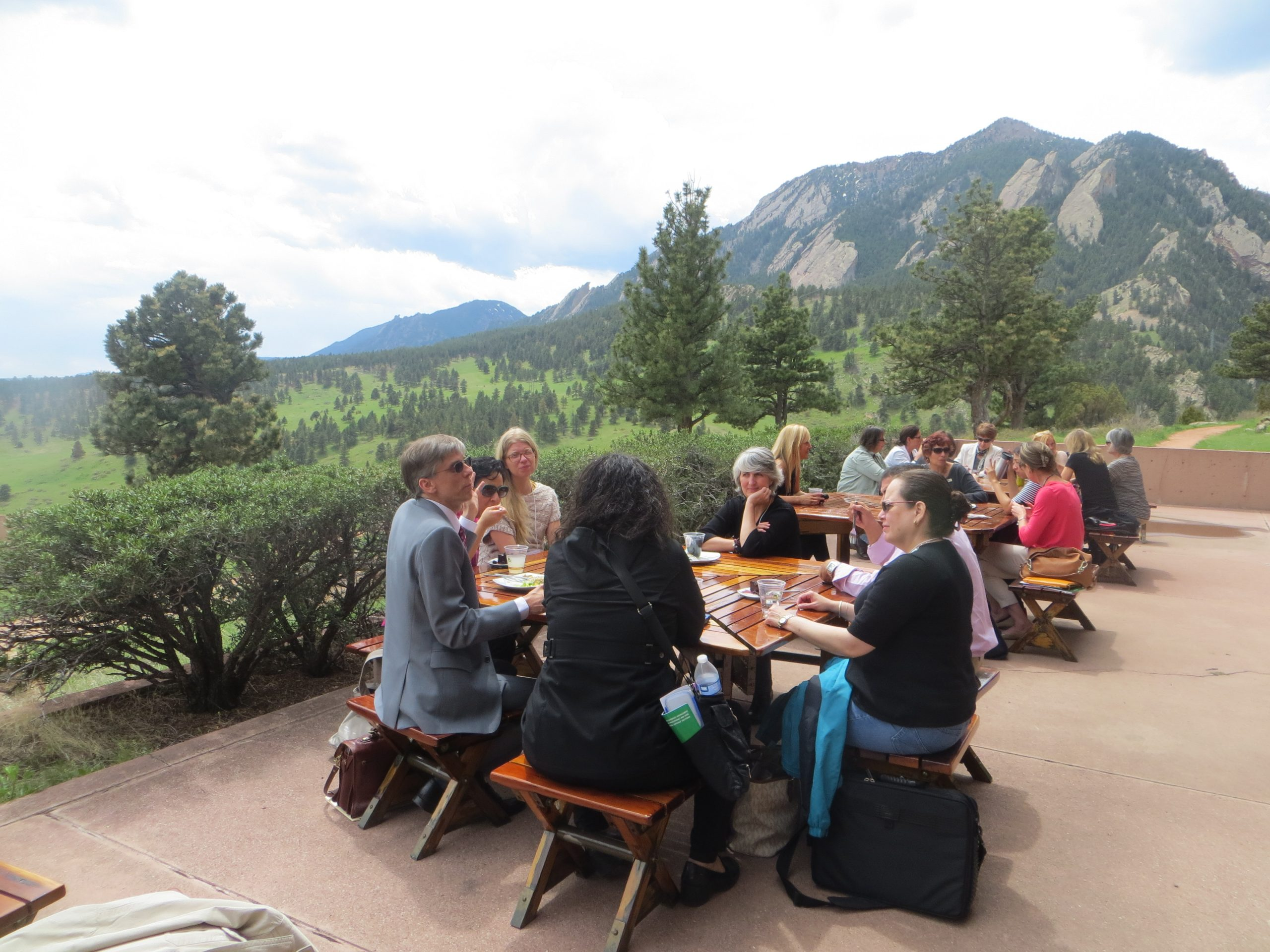 Attendees enjoyed an al-fresco lunch with spectacular views of the Rocky Mountains.