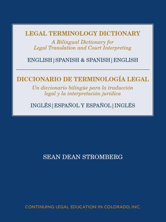 Legal Terminology English Spanish Dictionary